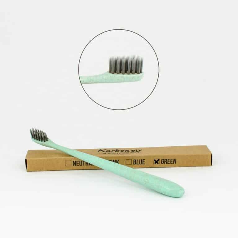 Zelena zobna ščetka