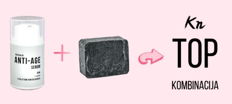 Popolna kombinacija: Kn črno milo + anti-age serum